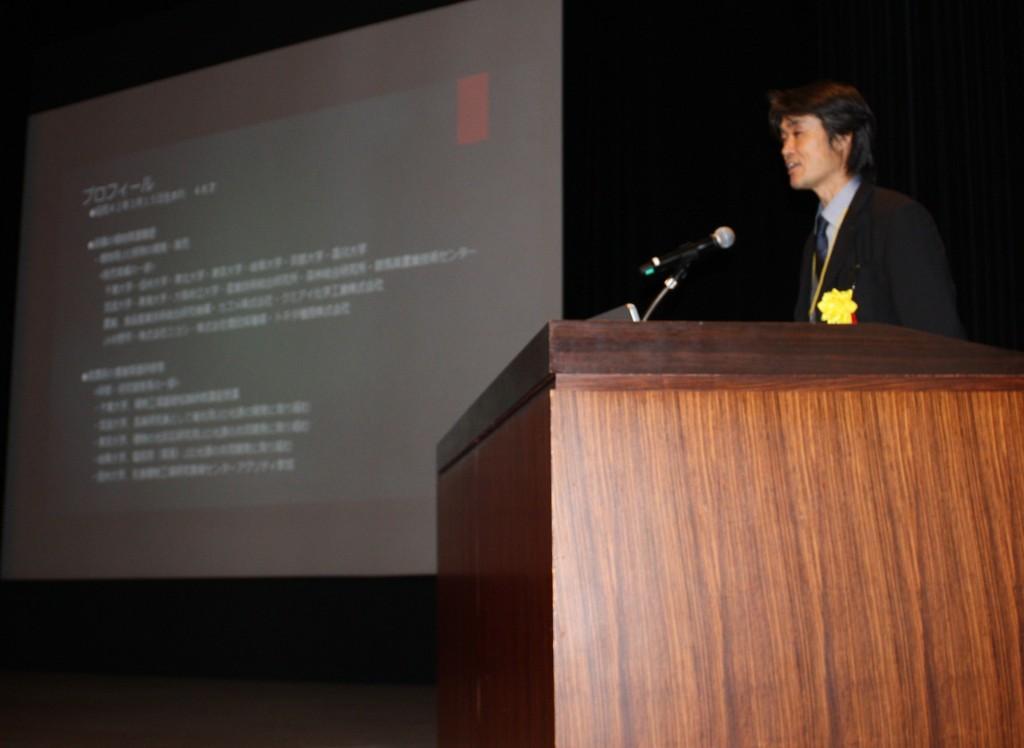 経営の歩みを発表する黒澤忠弘さん