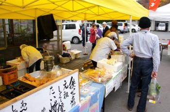 名物のしゃくし菜たい焼きや手作りまんじゅうなども販売