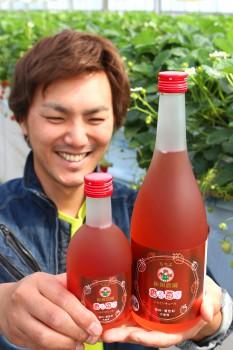 「香る苺酒」を紹介する田口さんHP