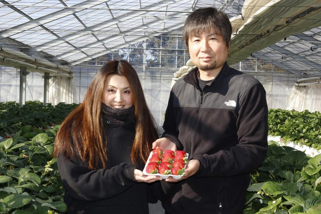 大切に育てたイチゴを紹介する小室さん夫妻HP